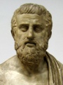 Cast of a bust of Sophocles